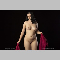 BBW-Brunette-Nora-Rose-Black-Background-from-NudeMuse
