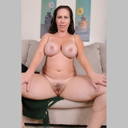 Hairy-Brunette-MILF-BBW-Kandace-Big-Natural-Tits-on-Couch-from-AuntJudys