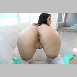 Valentina-Nappi-Stockings-Green-Heels-White-Gloves-from-EvilAngel